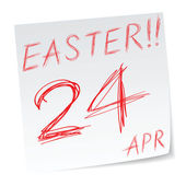 Påsk kalender — Stockvektor