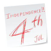 Independence day — Vetorial Stock