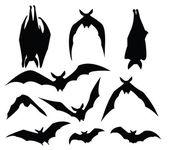 Bat silhouette — Stock Vector