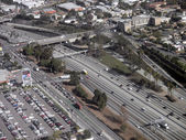 LA Freeway from overhead — Stock Photo