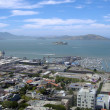 Stock Photo: San Francisco North Beach, Fishermans wharf, and Alcatraz