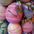 Stock Photo: Colored sparkeled easter eggs