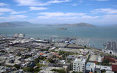 San Francisco North Beach, Fishermans wharf, and Alcatraz — Stock Photo