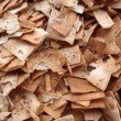 Pile of square and broken Pita Chips — Stock Photo