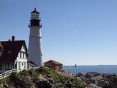 Portland head lighthouse, portland, mig — Stockfoto