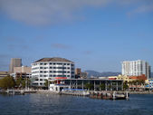 Oakland Jack London Square Ferry Dock from the water — Stock Photo