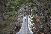 Himalayan Suspension Bridge — Stock Photo