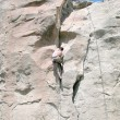 Rock Climbing - Montana - Stock Photo