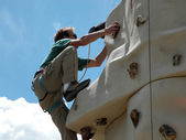 Rock Climbing Wall — Stock Photo