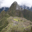 Ancient ruins of Machu Picchu, Peru - Stock Photo