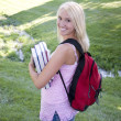 Stock Photo: Girl on campus