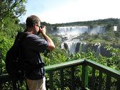 Iguazu Falls Photographer — Stock Photo