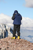 Alpine Hiker — Stock Photo