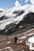 Aconcagua Hikers — Stock Photo