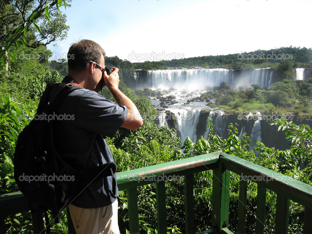 Iguazu Falls as seen from the Brazil side of the falls  Stock Photo #2790401