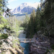 Saint mary faller, Glaciärnationalpark — Stockfoto