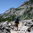 Stock Photo: Backpacking in Montana
