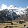 Stock Photo: Farming lodge near Luz- Himalayas