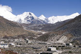 Dingboche and Island Peak - Nepal — Stock Photo