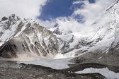 Changtse, Khumbutse, and Everest — Stock Photo