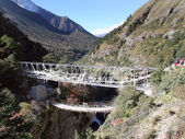 Suspension Bridge - Nepal — Stock Photo