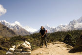 Ama Dablam Trekker - Nepal — Stock Photo