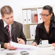 Business man and woman — Stock Photo
