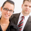 Stock Photo: Business man and woman