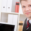 Business man in office — Stock Photo
