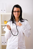 Beautiful young doctor — Stock Photo