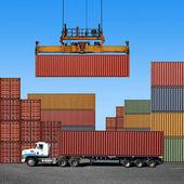 Contenitori di trasporto merci — Foto Stock