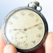 Stock Photo: Silver pocket watch