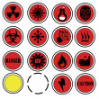 Stock Vector: Warning icons for laboratory.