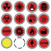 Warning icons for laboratory. — Stock Vector