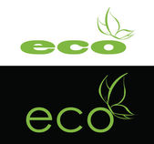Eco logo — Stock Vector