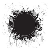 Black-and-white grunge banner — Stock Vector