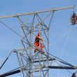 Worker on top of a hydro tower — Stock Photo #2733559