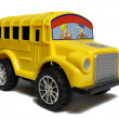 Stock Photo: Yellow school bus toy