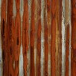 Rust stained metal background - Stock Photo