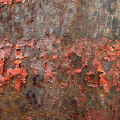 Red rusty metal background - Stock Photo