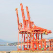 Waterfront Industrial Cranes — Stock Photo #3580700