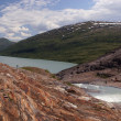 Glacier lake — Stockfoto