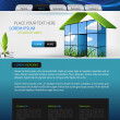 Web design vector template - Vettoriali Stock