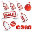 Stock Vector: Shopping sale tags design set