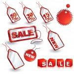 Shopping sale tags design set — Stock Vector