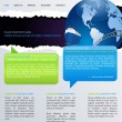 Vecteur: Web page layout