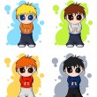 Royalty-Free Stock Vector Image: Chibi vector manga boys