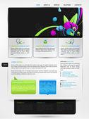 Web design vector template — Stock Vector