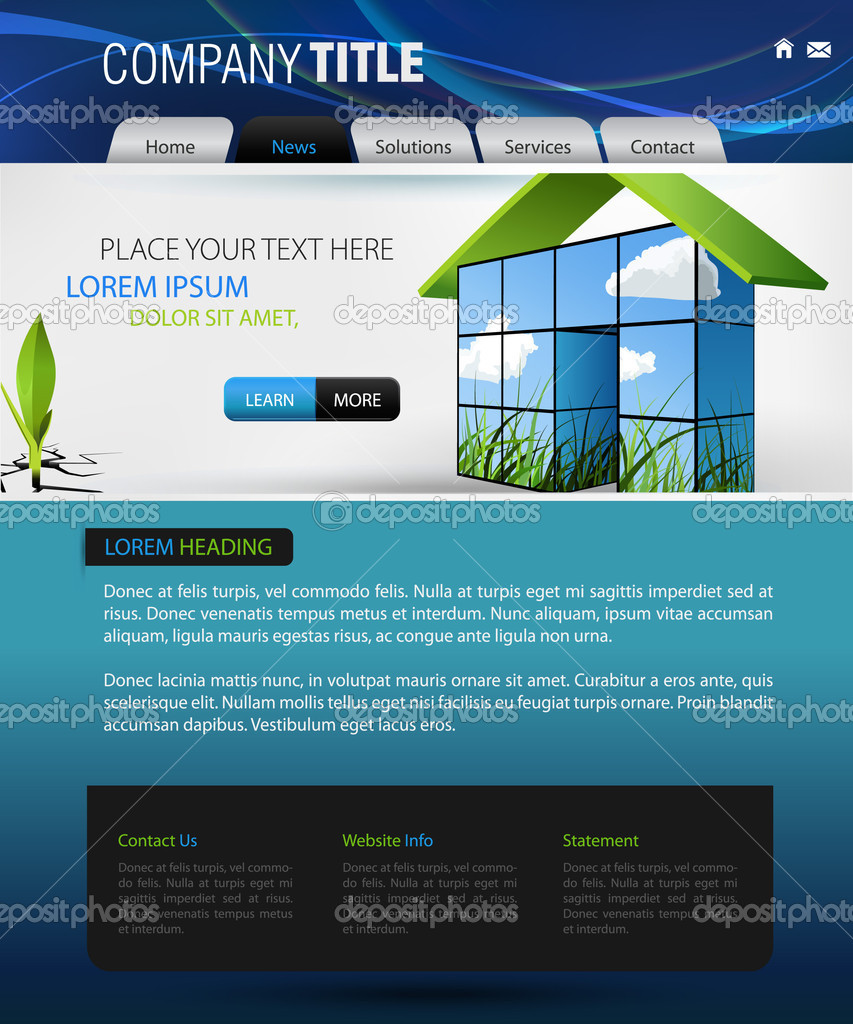 Website Homepage Templates. Of Website Template 012 Quality ...