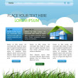 Web page layout — Vector de stock